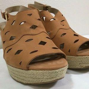 3a95bcc1657 Via Spiga Shoes | Lenox Black Crochet Espadrilles Wedges | Poshmark